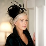 Black Swirl fascinator from Hedderwicks of London